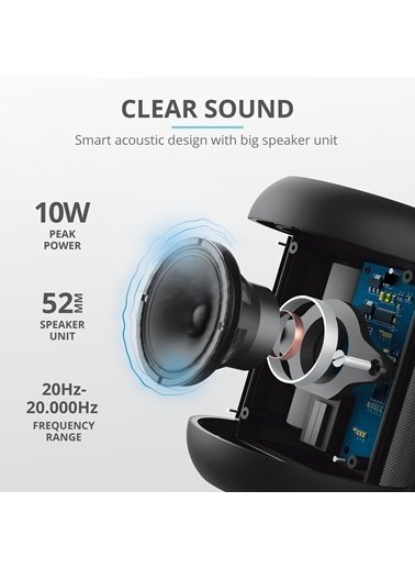 Trust Rokko Siyah Taşınabilir Bluetooth Hoparlör Siyah